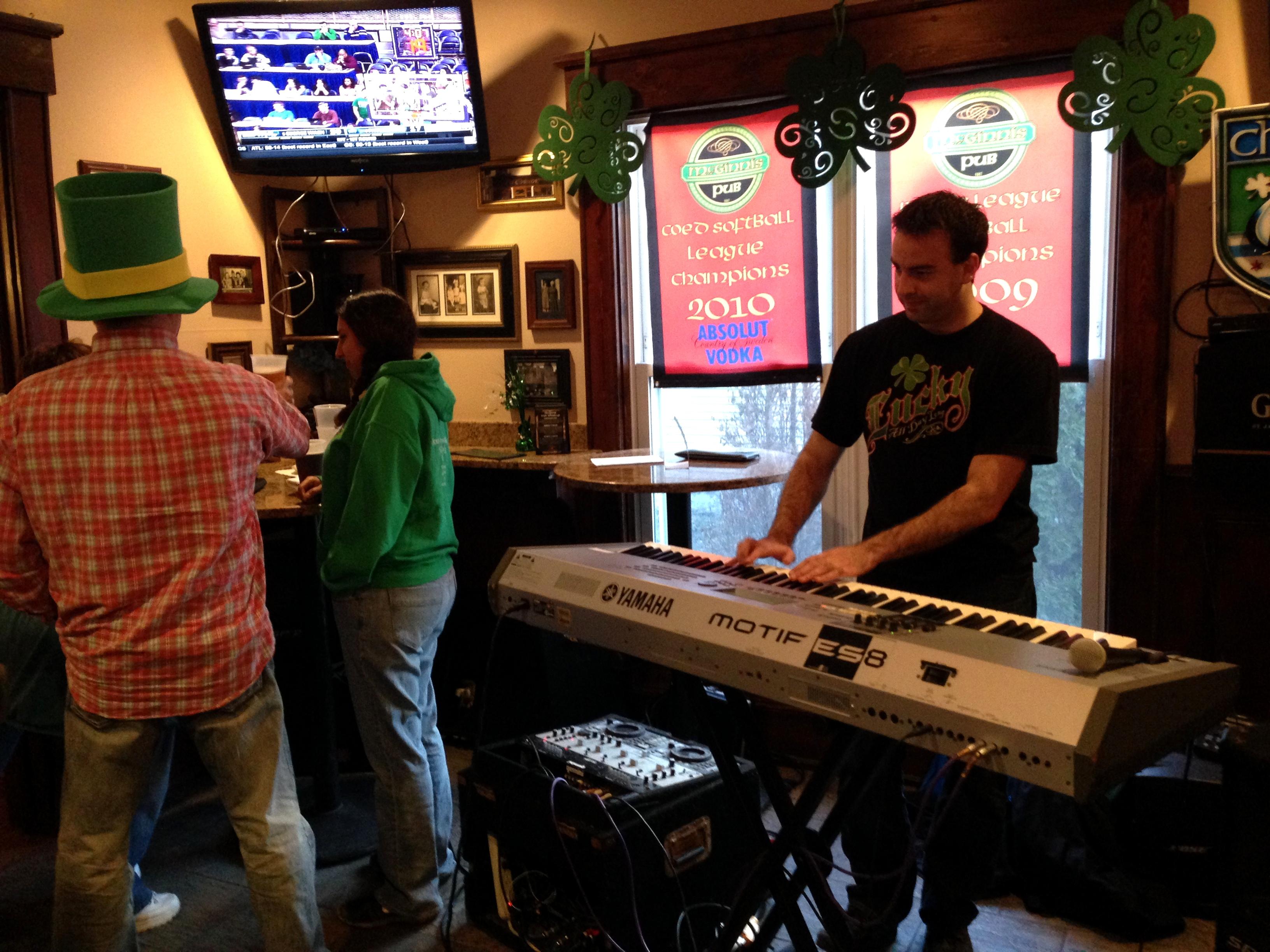 St. Patrick's Celebration at McGinnis pub.